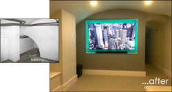 Image Galleries for Basement Conversion - Home Cinema