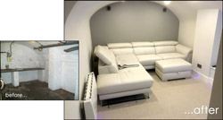 Case Study Image: Basement Conversions, Home Cinema & Gym