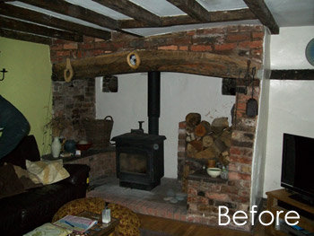 Case Study Image: Conifer damp proofing a cottage - built 1750