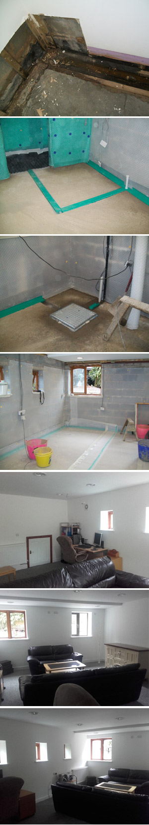 Case Study Image: Basement Restoration After Flooding