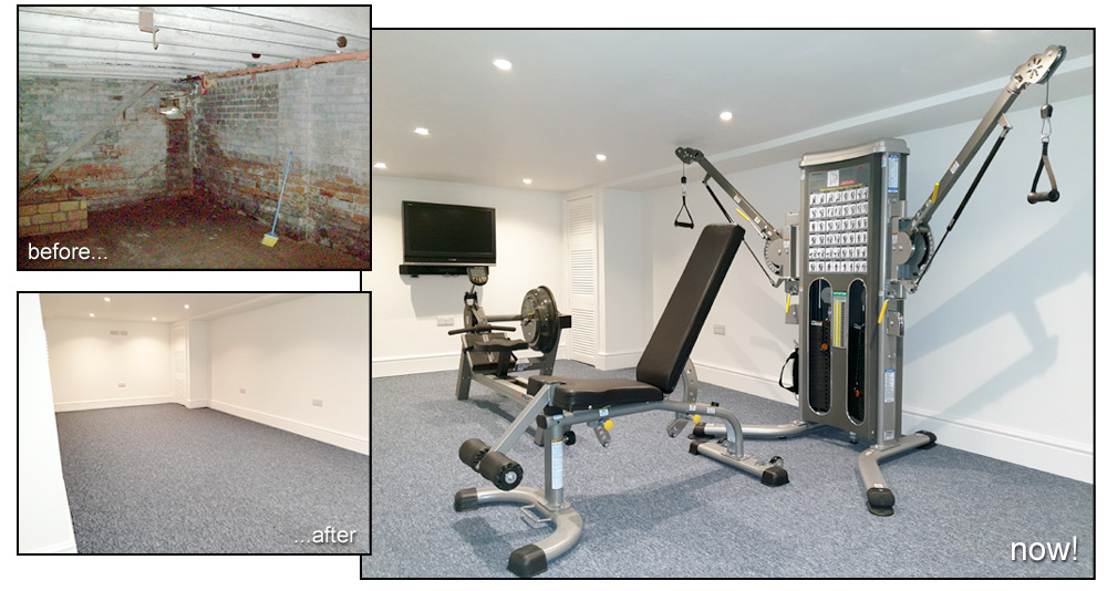 Image Galleries for Basement Converted - Gym Shropshire