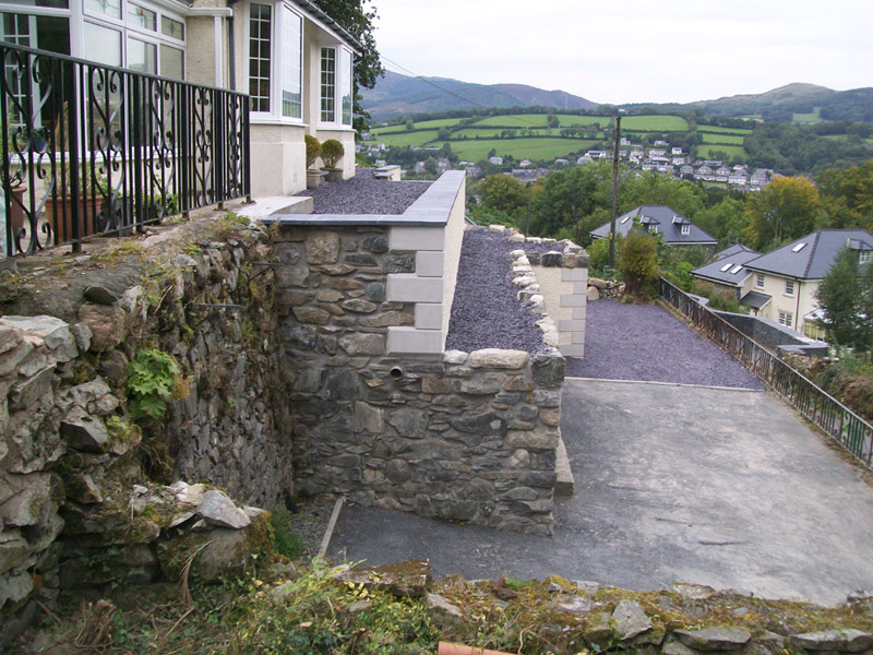 Retaining Wall in Mid Wales