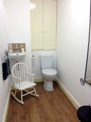 Shop toilet/changing room